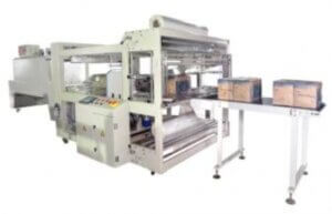 cardboard box sealing and thermal shrink wrapping machine