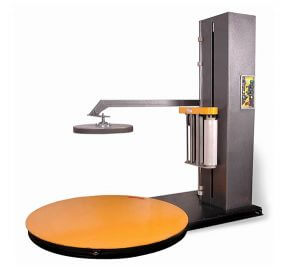 For wrapping light products loaded on pallet, platen to fix the goods steady