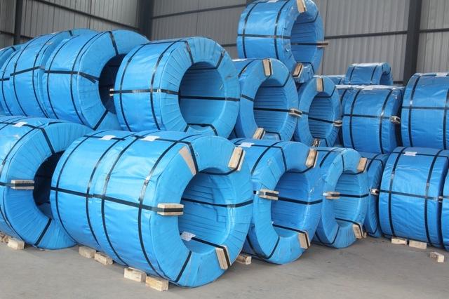 UVI anti-rust stretch wrapped wire coils