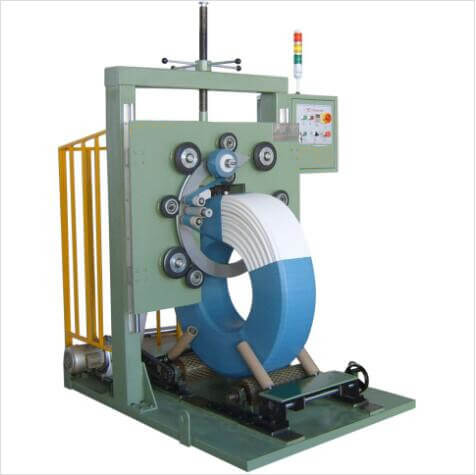 hose coil wrapper machine