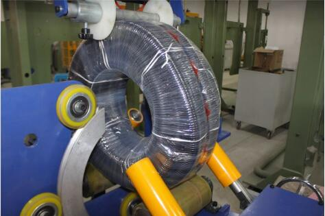 corrugated hose coil wrapping machine