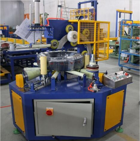 horizontal wrapping machine stretch wrapping corrugated hose coils