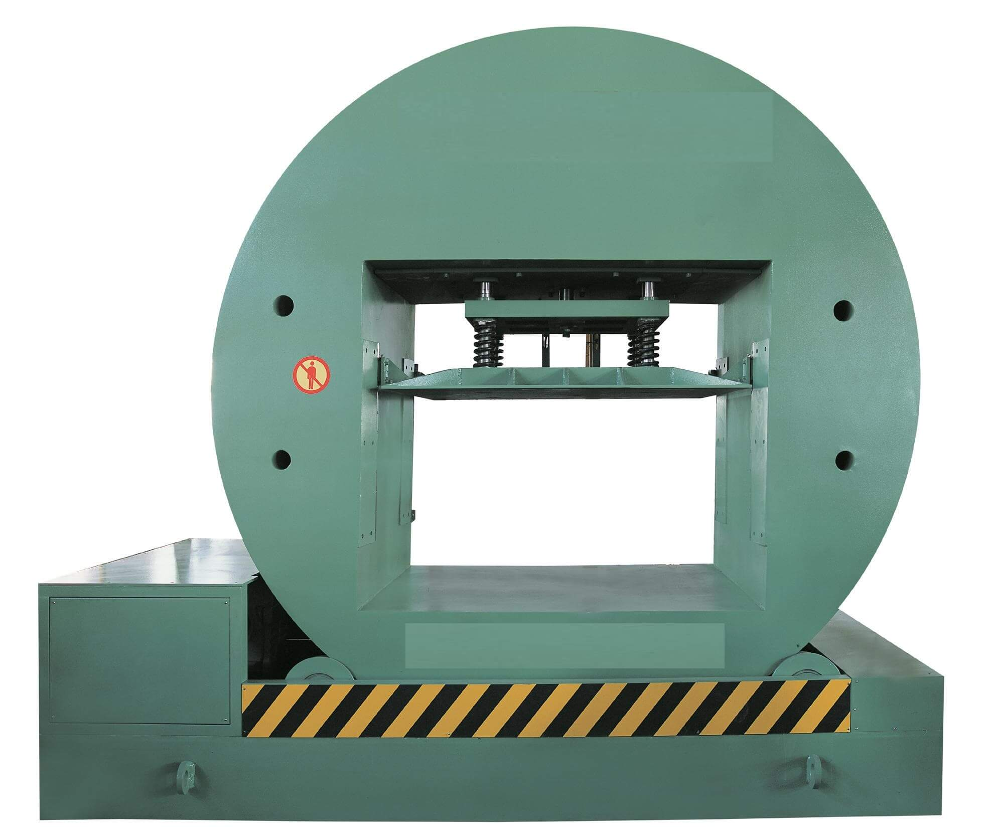180 degree turning machine for pallet and skid