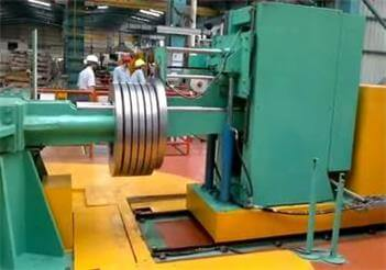 automatic slit steel coils packing system