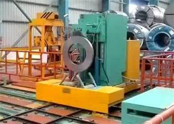 slit steel coil wrapping and packing machine