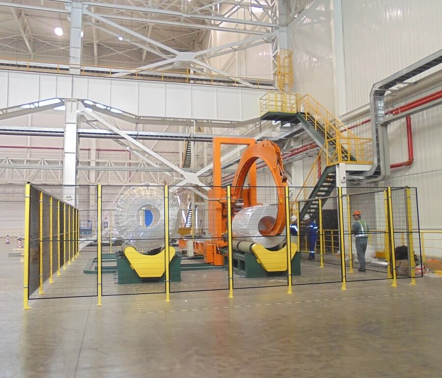 master coil wrapping machine packing giant rolls and reels