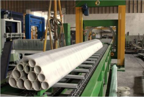 orbital stretch wrapper packing PVC pipes