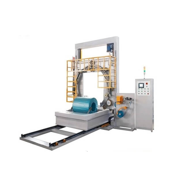 Reciprocating ring and coil wrapping machine steel coil packaging machine