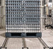 On-line pallet and skid winding machine automatic pallet stretch wrapping line