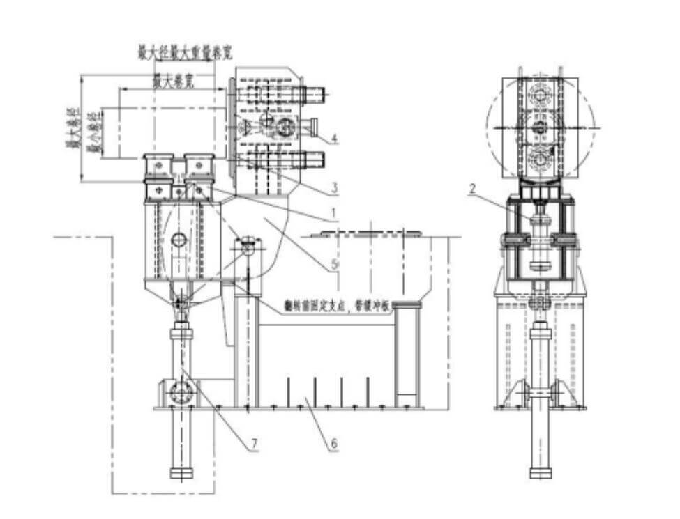 parameter of the steel coil upender