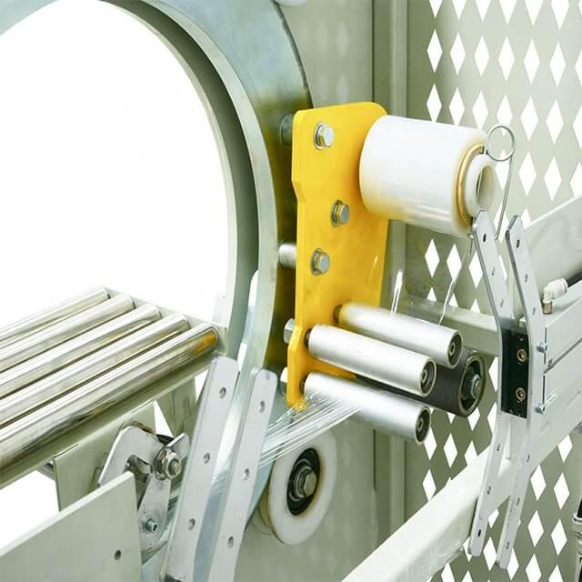 Aluminum profile orbital wrapping machine